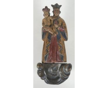 Vambeřická Madona, polychromovaná dřevořezba, Kladsko (?), polovina 19. století, v. 16 cm.