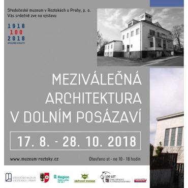 Výstava Meziválečná architektura v dolním Posázaví ve Středočeském muzeu v Roztokách u Prahy