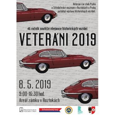Veteráni 2019. Jubilejní 40. ročník soutěže elegance historických vozidel v Roztokách
