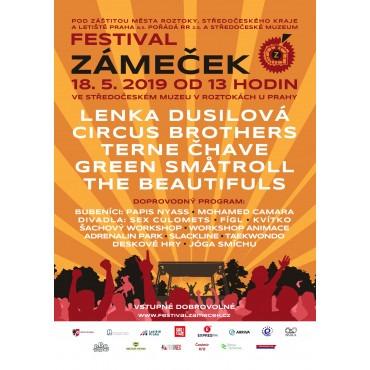 Festival Zámeček 2019 ve Středočeském muzeu v Roztokách u Prahy