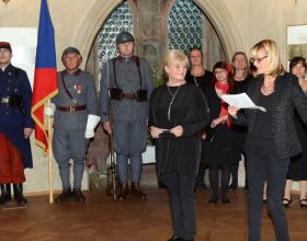 Zita Suchánková, ředitelka muzea především děkovala;  Foto: SMR – A. Hůlka