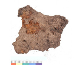 Fragment železného kování, období časného laténu. Stav před konzervací.