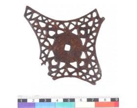 Fragment železného kování, období časného laténu. Stav po konzervaci.