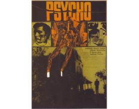 Filmový plakát Zdeňka Zieglera k filmu Psycho