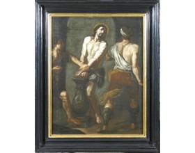 Bičování Krista, olej na plátně, 1. polovina 17. století, 94 x 69 cm.