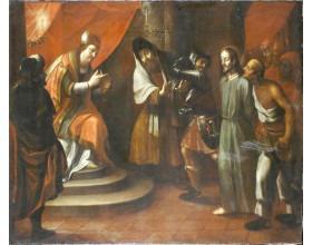 Kristus před Pilátem, olej na plátně, kolem 1700, 171 x 140 cm.