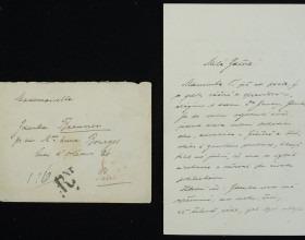 Ukázka z pozůstalosti malířky Zdenky Braunerové. Dopis Zdence Braunerové od bratra Vladimíra Braunera, psán česky, Praha, datovaný 6. 6. 1913