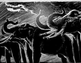 Zdeněk Burian. Ilustrace ke knize Kniha džunglí