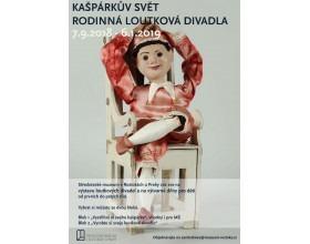 Výstava Kašpárkův svět. Rodinná loutková divadla ve Středočeském muzeu v Roztokách u Prahy